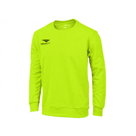 SWEATSHIRT ERA ROUNDNECK WO fluo green  S