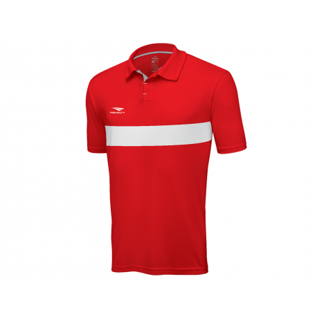 POLO MATIS  red - white  XL