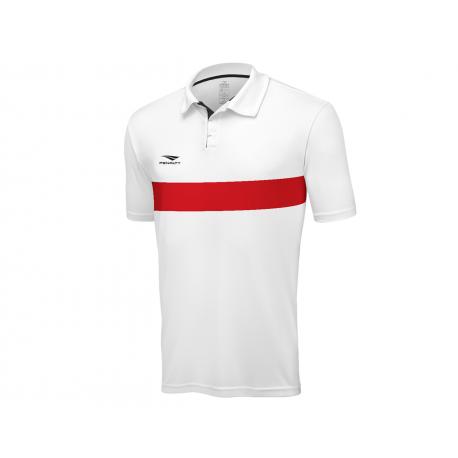 POLO MATIS  white - red  XL