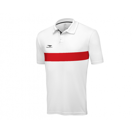 POLO MATIS  white - red  M