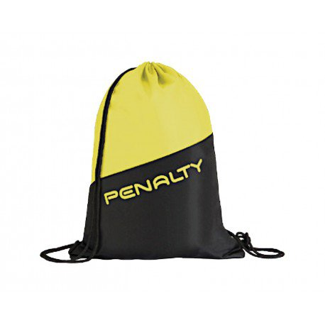 GYM BAG black - fluo yellow